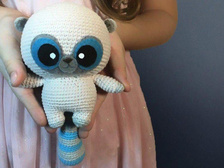 Crochet raccoon YooHoo amigurumi