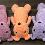 Amigurumi bear crochet plush toy