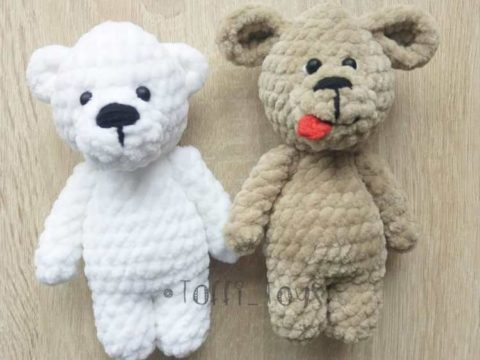 Bear and dog amigurumi