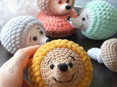 Crochet hedgehog amigurumi