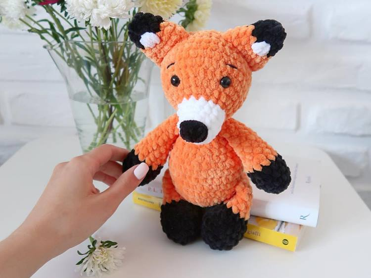 Plush fox pattern | Etsy | 563x750