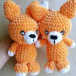 Crochet fox amigurumi