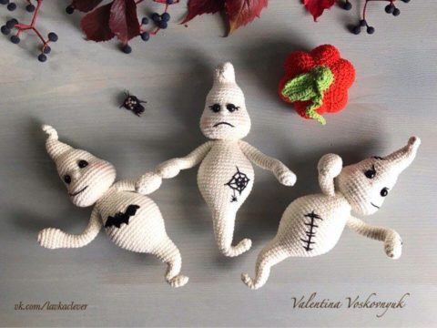 Crochet ghosts amigurumi