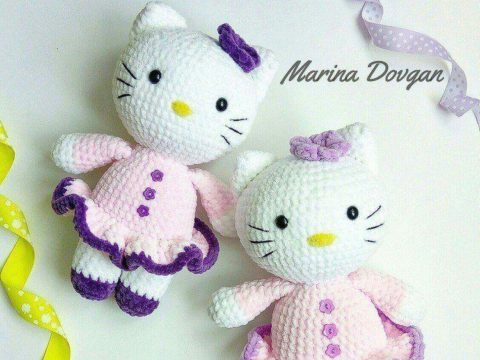 Kawaii Amigurumi Crochet Handmade Collectible Hello Kitty Doll Key ... | 360x480
