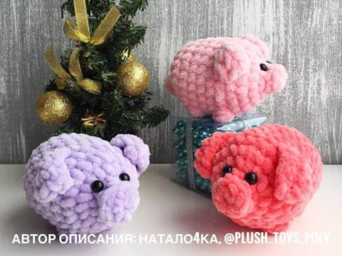Crochet plush pig amigurumi