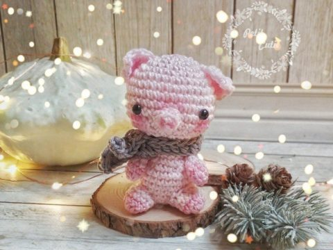 Crochet piggy amigurumi