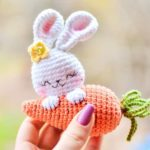Crochet bunny and carrot