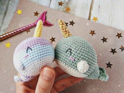 Crochet narwhal amigurumi