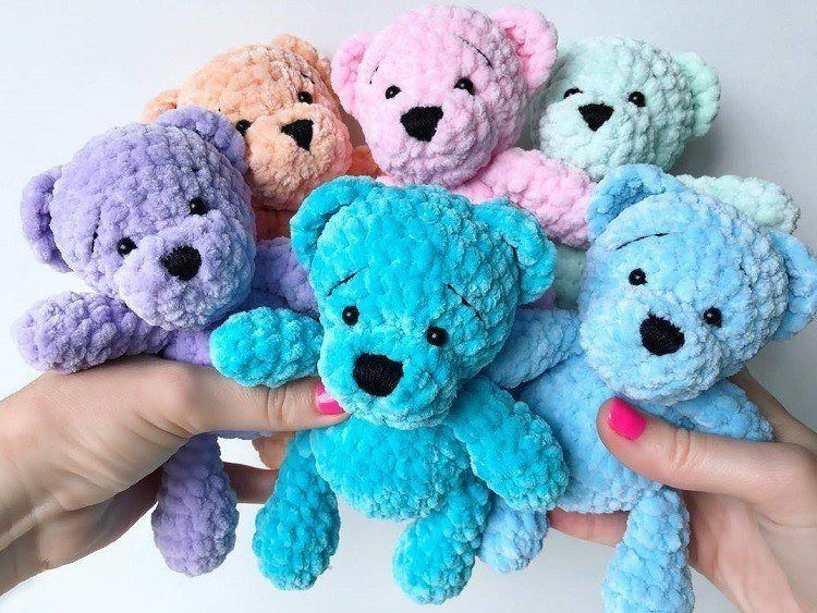 Lovely Teddy Bear Amigurumi - Tutorial | 563x750