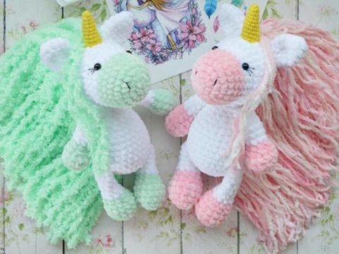 Crochet unicorns amigurumi