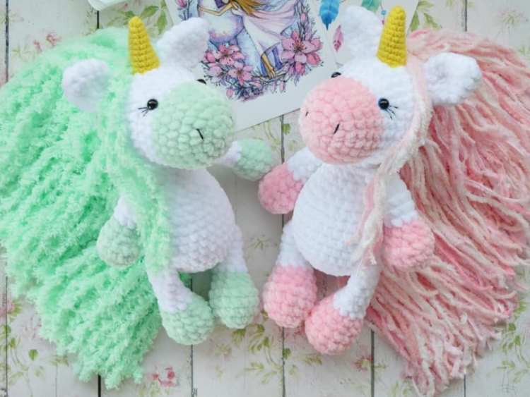 Crochet unicorns amigurumi
