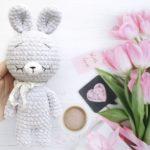 Crochet plush bunny amigurumi