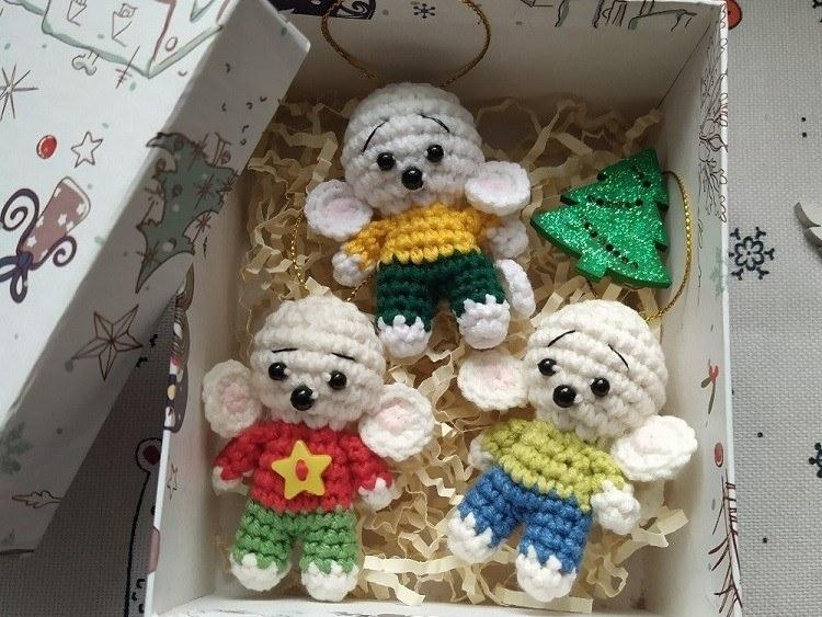 Crochet mice amigurumi