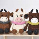 Crochet bull amigurumi