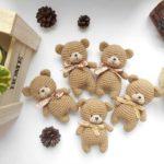 Crochet teddy bear amigurumi