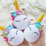 Crochet unicorn Easter egg amigurumi