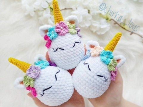 Crochet unicorn Easter egg amigurumi