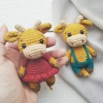 Crochet bull and cow amigurumi