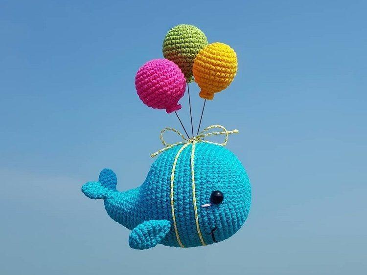 Crochet whale amigurumi