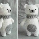 Crochet polar bear amigurumi