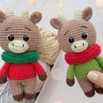 Crochet bulls amigurumi