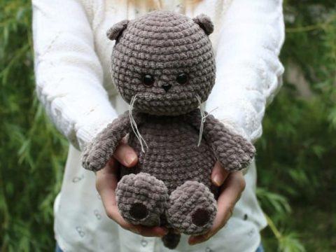 Basik the crochet plush cat