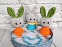 Crochet carrot bunny