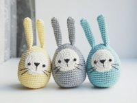 Crochet Easter eggs bunny