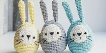 Crochet Easter eggs bunny